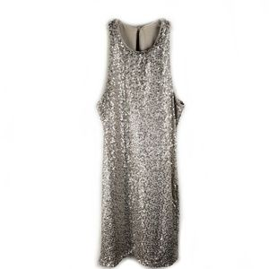 Hollister NWT sequined sleeveless dress champagne